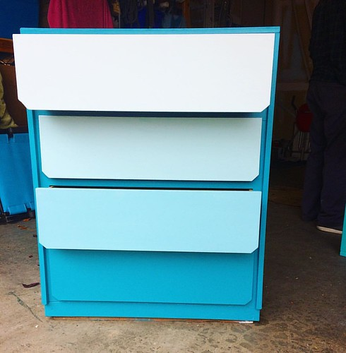 Phase 2 of the ombré nursery dresser: complete!
