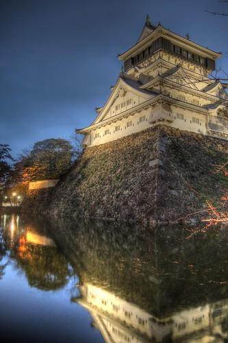 Kokura Castle in evening on NOV 26, 2016 (10)