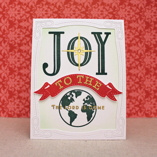 Framed Joy To The World Card