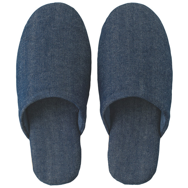Cotton Denim Slippers
