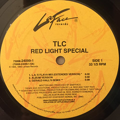 TLC:RED LIGHT SPECIAL(LABEL SIDE-A)