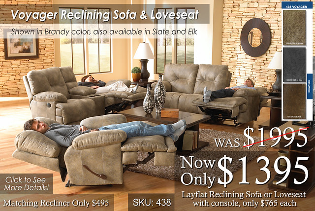 Voyager Reclining Sofa and Love New