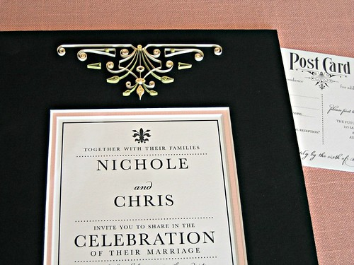 Quilled Wedding Invitation Mat - Detail