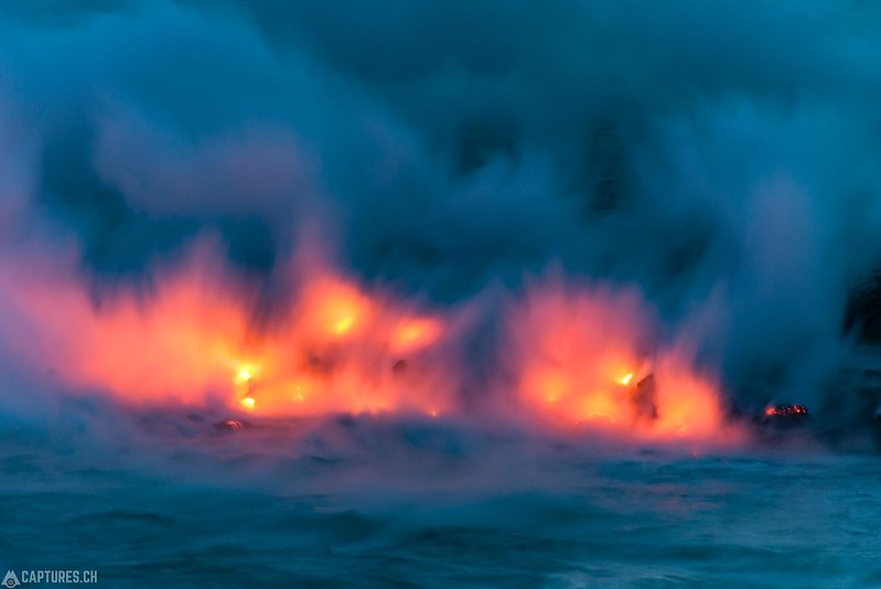 Water meets fire - Big Island