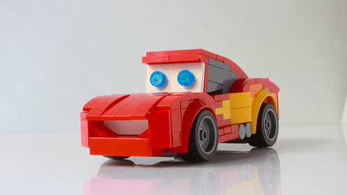 Lightning McQueen as a Speed Champions car (with instructions)