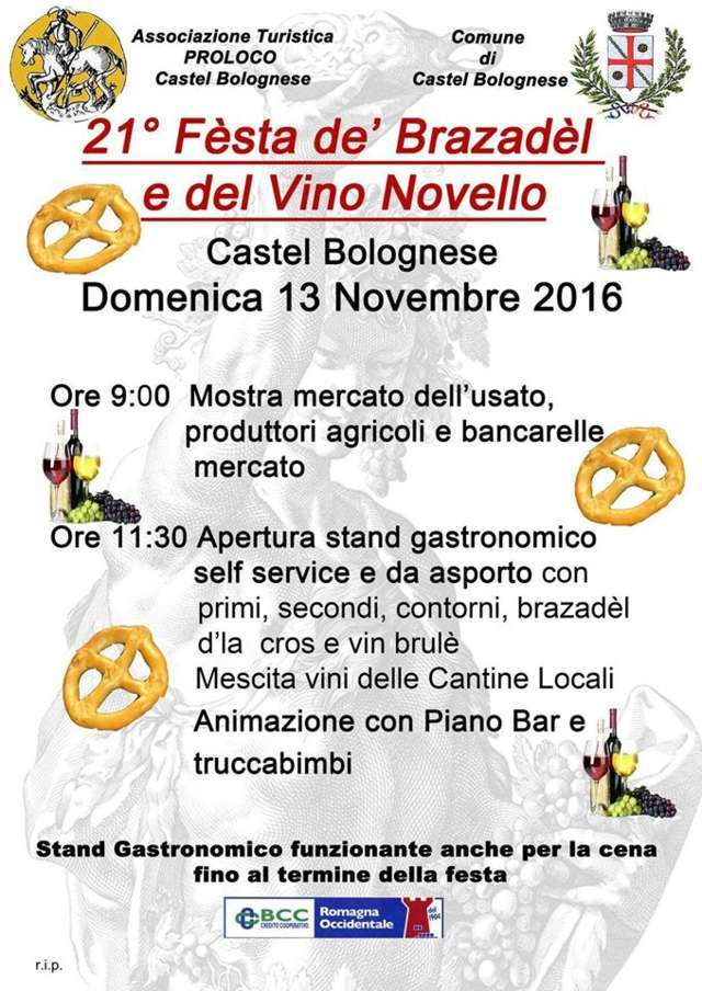 21° Festa dè Brazadel d'la cros e del vino novello, domenica 13 novembre 2016