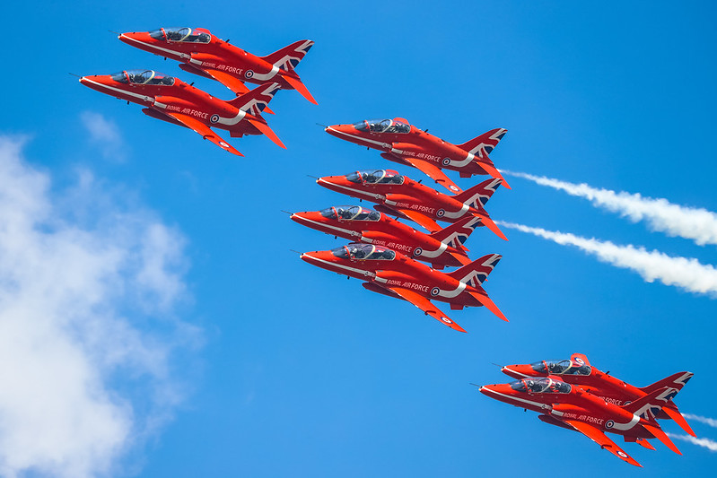 British RAF Red Arrows Aerobatic Team 英国红箭飞行表演队 Hawk