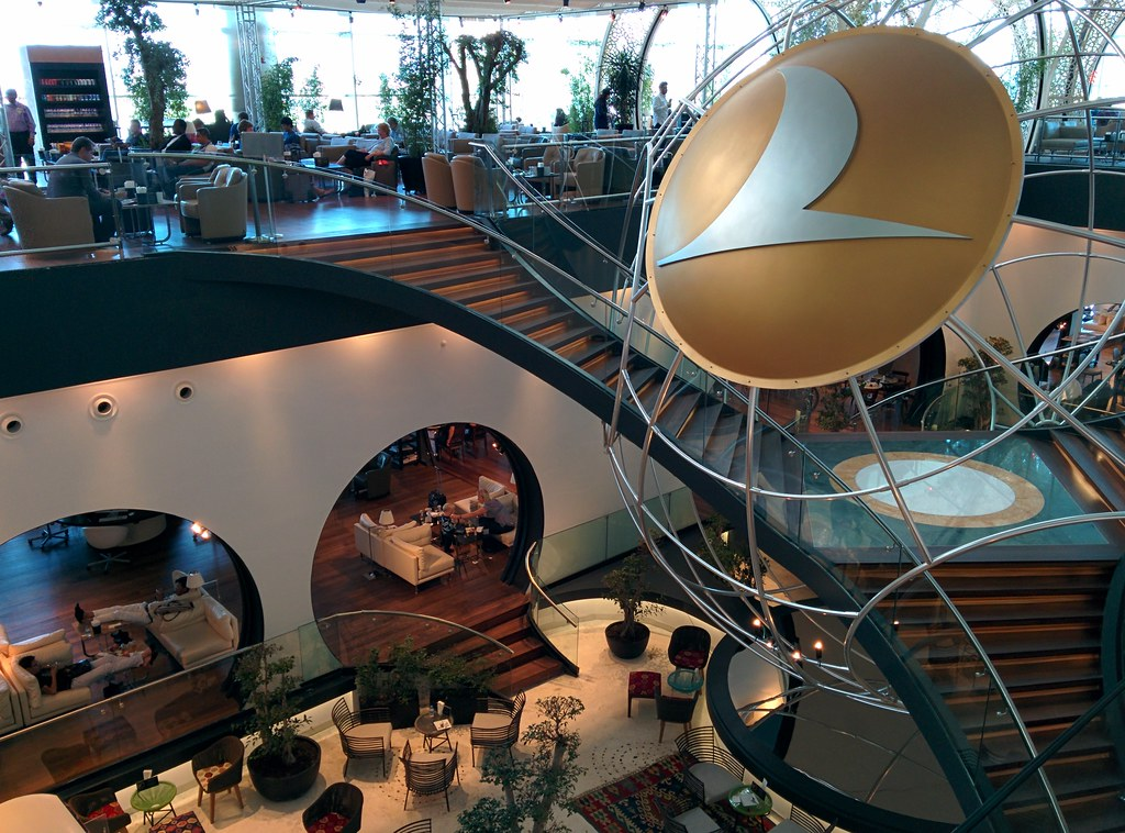 Turkish Airlines lounge, Istanbul airport