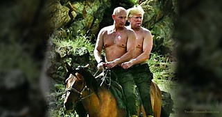 Trump and Putin on Horseback