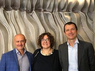 Con i colleghi Mirco Bagnari e Gianni Bessi, nella sede dell'Assemblea legislativa dell'Emilia-Romagna