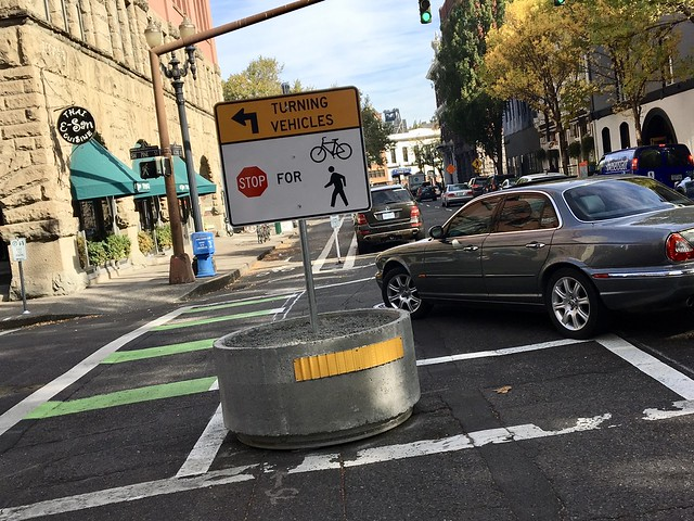 Protection on 2nd Ave bikeway