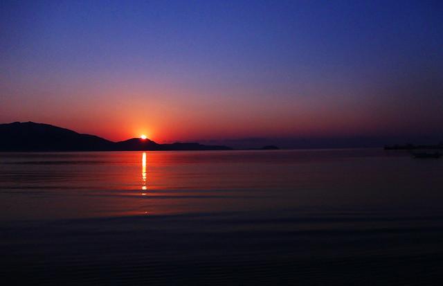 On Quirky Travel Habits: Sunrise in Laganas Bay, Zante, Greece