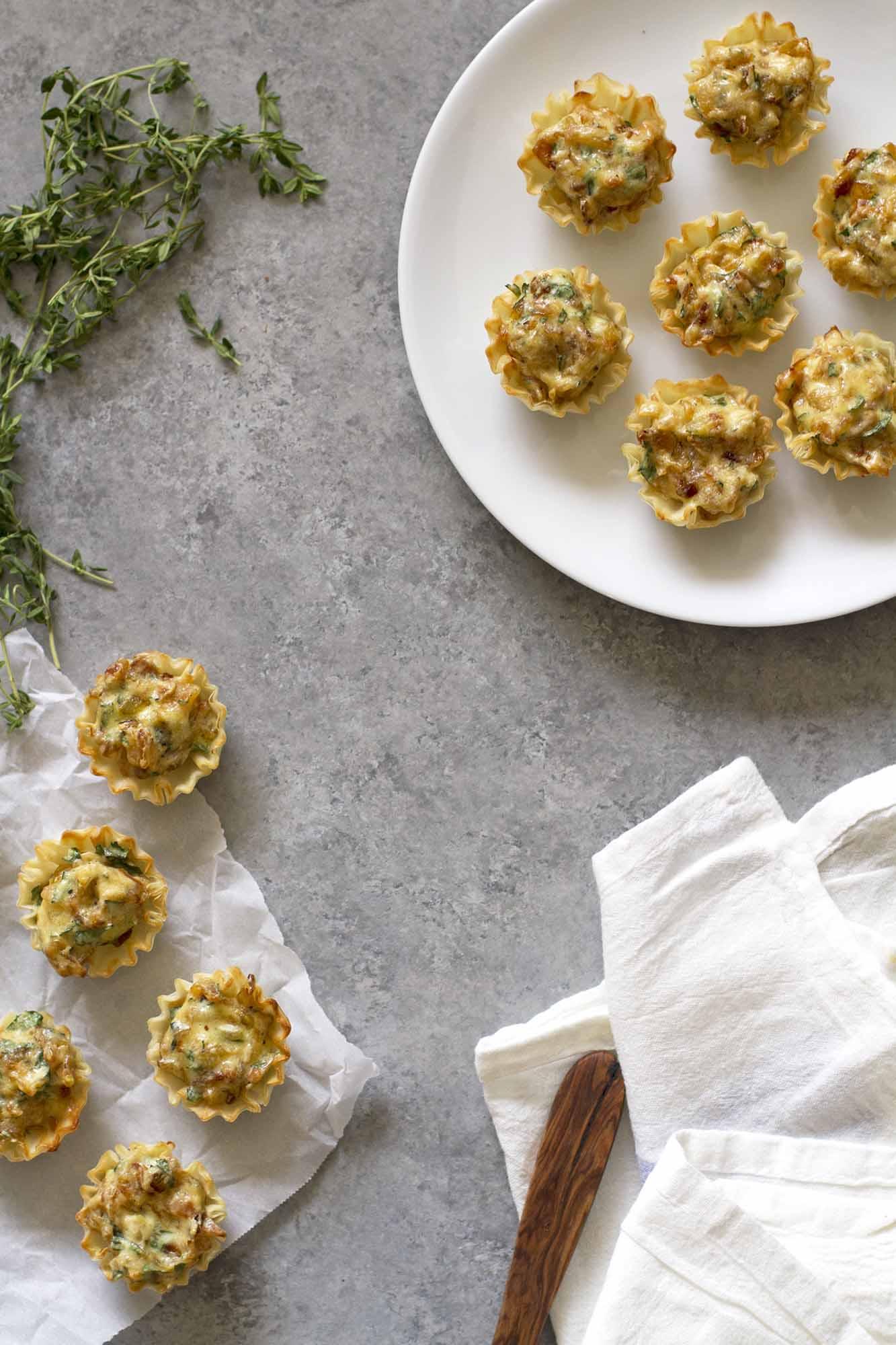 French Onion Tartlets   girlversusdough.com @girlversusdough