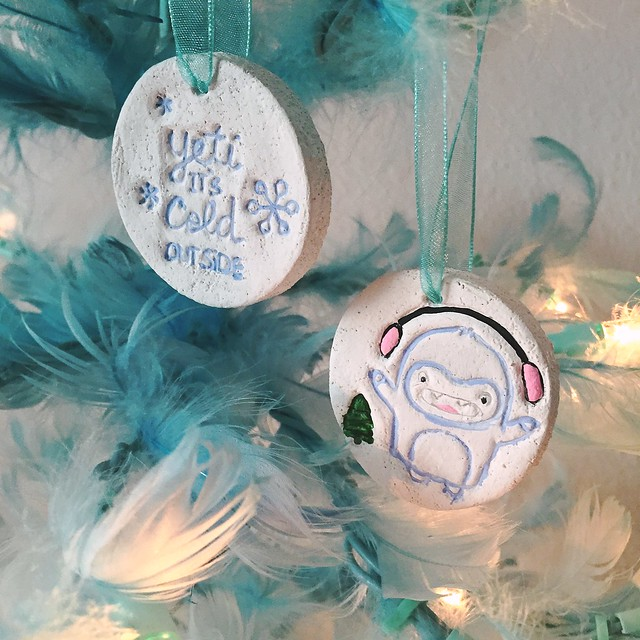 Yeti Christmas Ornaments