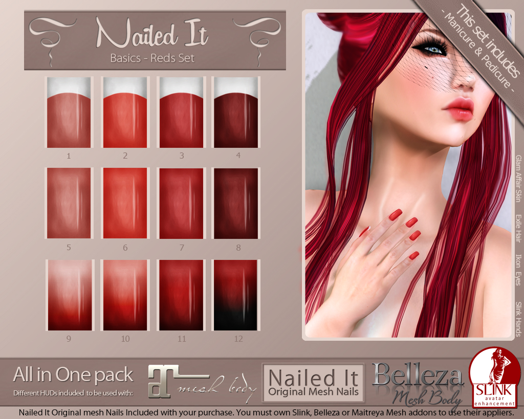 Nailed It Vendor - Basics Reds Set