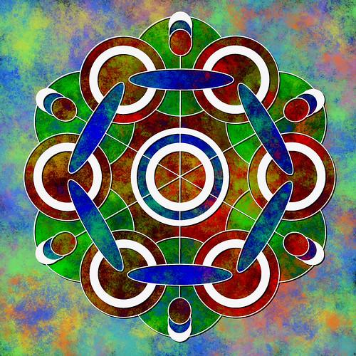 Mandala coloured digitally