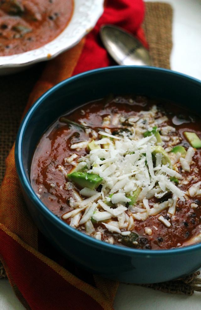Sweet Potato Lentil Tortilla Soup