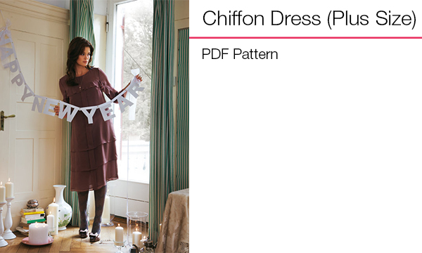 Chiffon Dress (Plus Size)