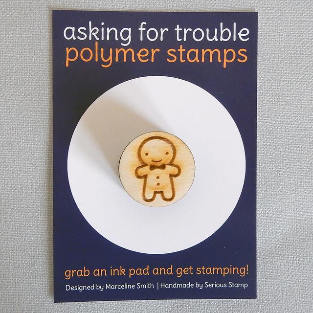Gingerbread Man polymer stamp