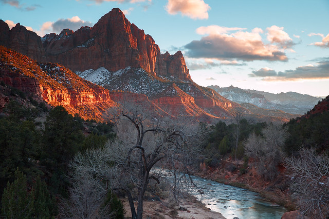 Watchman winter sunset