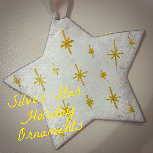 Silver Star Ornaments