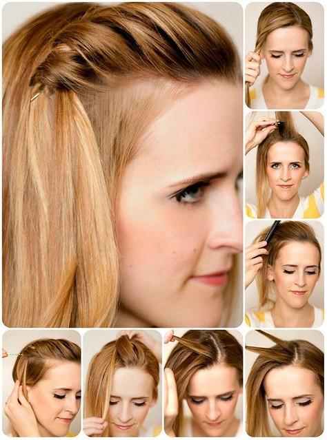 Kiểu tết tóc mái