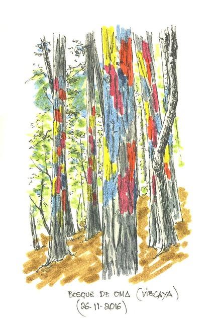 Bosque de Oma, en Kortezubi (Vizcaya)
