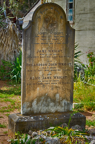 the wright tombstone