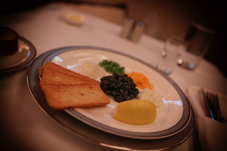 Singapore Suites Caviar First Class A380