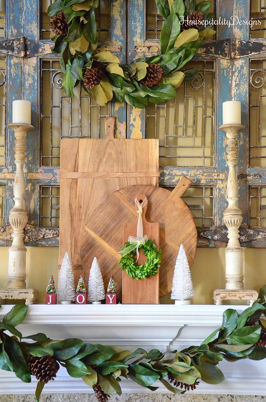 Christmas 2016 Mantel - Magnolia Garland - Magnolia Wreath - Housepitality Designs