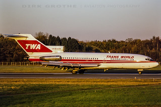 TWA 727 N839TW at HAM, 04.11.1988