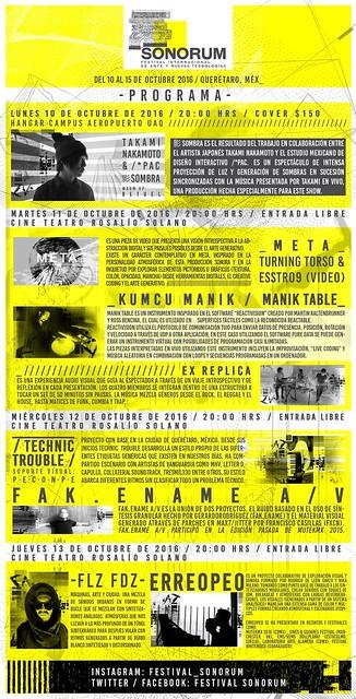Festival Sonorum programa