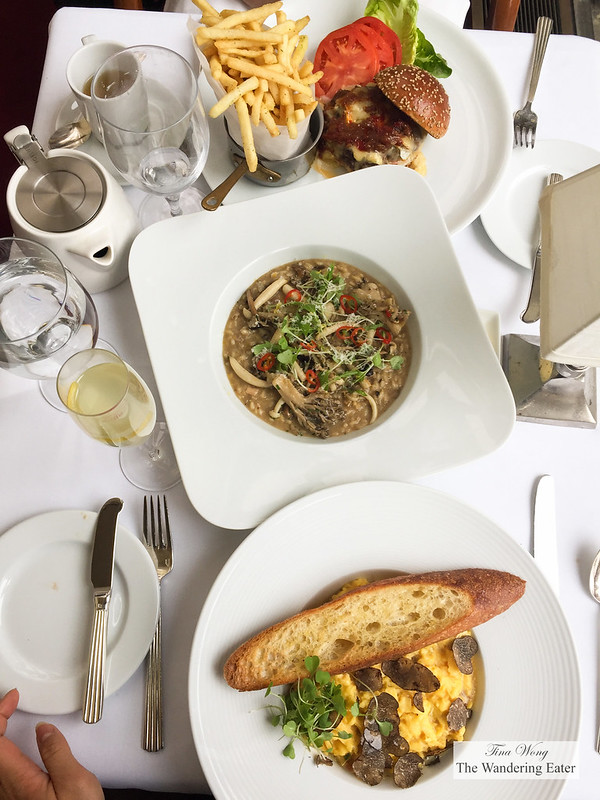Our spread of main course for brunch