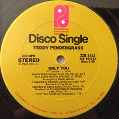 TEDDY PENDERGRASS:ONLY YOU(LABEL SIDE-A)