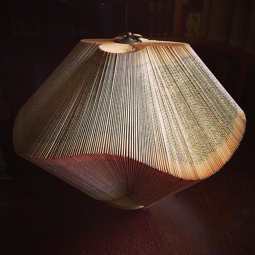 Folded Book Sculpture by Crizu - Lantern