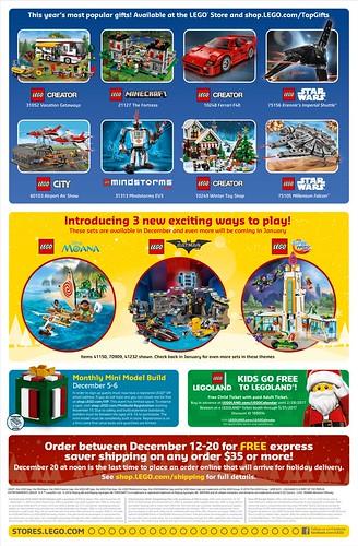 LEGO December 2016 Store Calendar