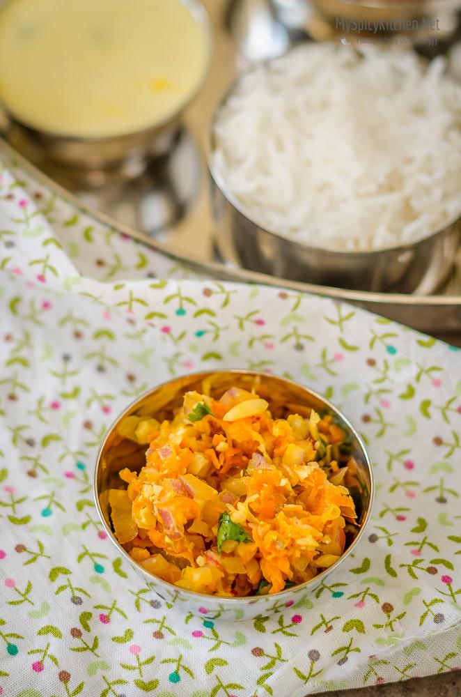 Gajar Muli Kanda Koshimbir, Carrot Radish Onion Salad, Indian Salad, Maharashtrian Salad, Maharashtrian Thali, Maharashtrian Food, Maharashtrian Cuisine,
