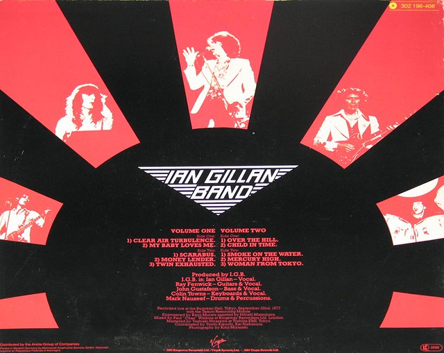 Ian Gillan Live at Budokan Vol I & II 2LP Deep Purple