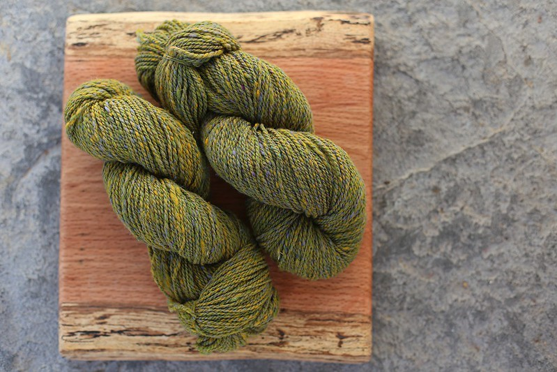 yarn from Trailing of the Sheep (even more beautiful in person)