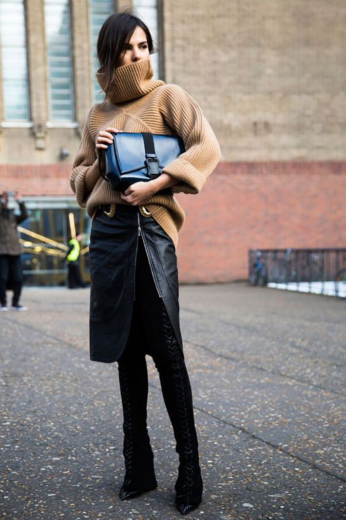 Knitwear rainy day outfit accessories fall style streetstyle winter style fashion trend6