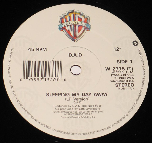 DAD D.A.D Sleeping My Day Away + Stencil