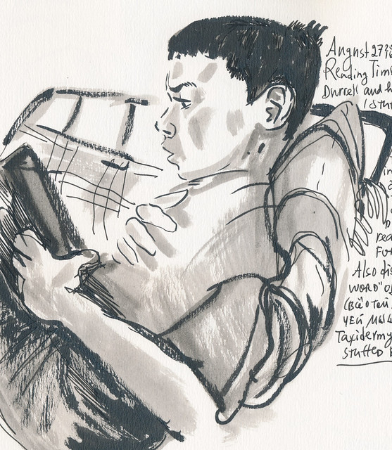 Sketchbook #100: Everyday Life - Reading