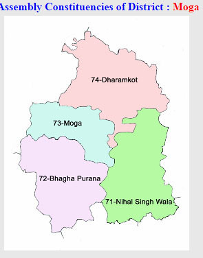 Moga district Punjab Election 2017