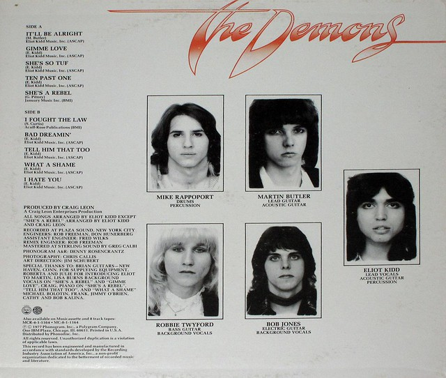 """THE DEMONS SELF-TITLED 12"""" LP"""