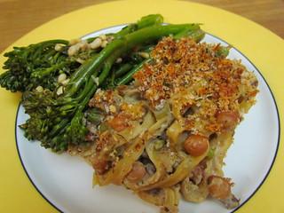 Blue Plate Special: Tuna-Free Noodle Casserole; Bistro Broccolini