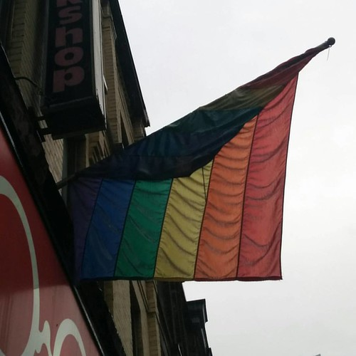 The rainbow flag of Glad Day #toronto #lgbt #gladdaybookshop #yongestreet #rainbow #flags