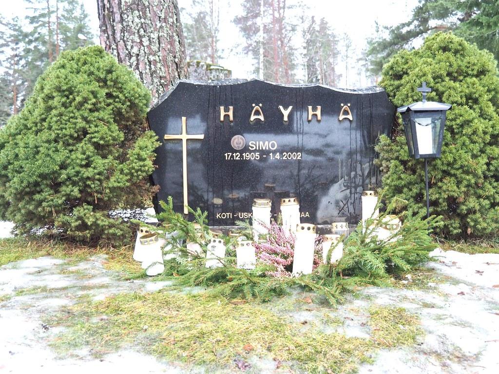 Simo Häyhä hauta Ruokolahdella