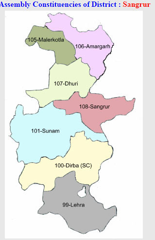 Sangrur district Punjab Election 2017