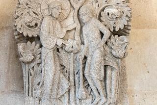 Kapitell 'Gott und Kain', Kapitellsaal Cathédrale Saint-Lazare, Autun