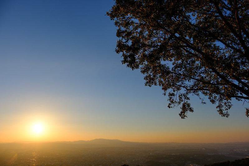 Nara Basin in the sunset
